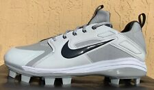 Mens Nike Air Huarache Elite Coop MCS Baseball Cleats Size 12/12.5/13 GREY RARE