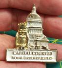 ROYAL ORDER OF JESTERS lapel pin, capital court 50, washington DC pin ROJ CT 50