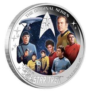 Star Trek U.S.S. Enterprise NCC-1701 Crew 2016 2oz Silver Proof Coin