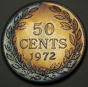 LIBERIA     50 Cents    1972     PROOF   *