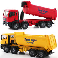 Diecast 1/50 Construction Vehicle Alloy Dump Truck Excavator Car Toy Model