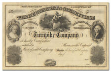 Newmarket & Sperryville Turnpike Company Stock Certificate (1800's)
