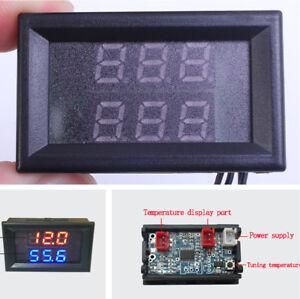 Car Dual Color Digital Intercooler Supercharger Temperature Gauge -55 ℃ ~ 120 ℃