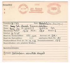 Tabak Tobacco Herbolzheim Breisgau 1928 Neusch Cigarren AFS Unikat Archivkarte