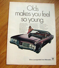 1968 Oldsmobile Delmont 88 Coupe Ad  Olds Makes you feel So Young