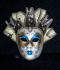 Mardi Gras Original Mask Life Size Hand Painted Venice Italy Face Mask