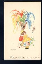 ART DECO Children Aina Stenberg artist drawn PPC