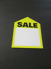 PRICE TAG SALE (UNSTRUNG)  3 1/4 X 4   PACKED 10 EACH   YELLOW  #1296