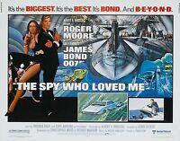 Home Wall Print - Movie Film Poster - THE SPY WHO LOVED ME BOND 007 -A4,A3,A2,A1