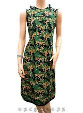 Robe KANABEACH T 36 S 1 Tunique Capuche Motifs feuillage Vert Tunic Dress TBE