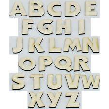 Holz 1cm Buchstaben+Zahlen Klebend Alphabet Lernen Verschönerung //38// * 250