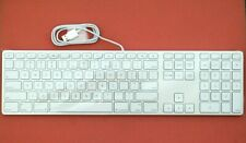 New US English Apple A1243 Aluminum Wired USB Keyboard with Numeric Keypad (86V