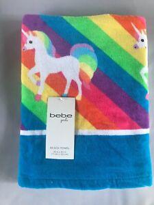 bebe Grils  Kids Beach Pool Towel for girls (Multicolor) Unicorn NWT