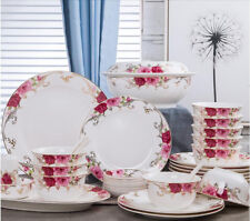 56pcs Decicate Chingtechen Dinnerware Set Kitchen Dining Plates Dishes Bowls