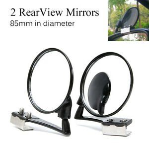 2X 360° Rotation Car Blind Spot Mirror Wide Angle Lens Adjustable View Mirrors