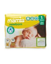 Aldi Mamia New Born ~ Size 1 Nappies Pack  5 x 24 Pack = 120 ~ Anti Leak
