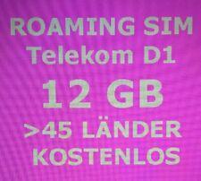 0151 22 xx 66 xx  EU + SCHWEIZ ROAMING SIM 12 GB LTE Prepaid TELEKOM Netz 20,- ?