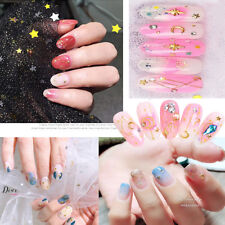 3D Nail Art Moon Star AB Color Rhinestone Metal Alloy Nail Studs Decoration Tips