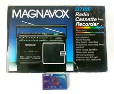 Vtg Magnavox Radio Cassette Recorder D7185 AM/FM New Open Box With Blank Tape