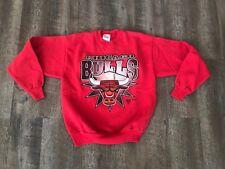 Vintage 90s Chicago Bulls Hanes Activewear Sweatshirt Youth Kids XL 18/20 Red