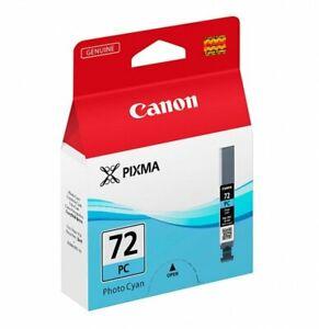 GENUINE AUTHENTIC CANON 72 PHOTO CYAN INK CARTRIDGE PGI-72PC 6407B001