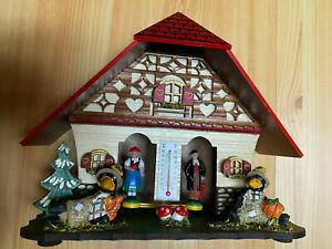 Schwarzwälder Wetterhaus Modell 859 aus Holz gefertigt