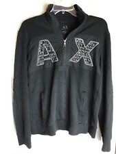 A/X Armani Exchange Men's Black 1/4 Zip - Casual/ Athletic SweatShirt - Size S