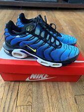 a852883a0e Nike Air Max Plus Tn Hyper Blue Yellow Black White Mens Size 10 Rare 604133-