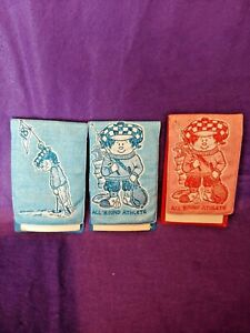 SET OF 3 VINTAGE 1970'S COLLECTIBLE THE TOUCHABLE LINE EMBOSSED NOTE PADS