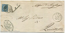 REGNO, TIMBRO CORSIVO CARBONARA + NUMERALE 2655 + SERMIDE, 1879, C10 VE II     m