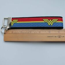 Wonder Woman Key Fob Wristlet Grosgrain Ribbon Webbing Keychain