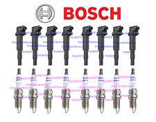 8 BOSCH Ignition Coil Pack Set +8 Spark Plugs kit for BMW 550i 650i 750i 750Li