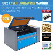 """2020 Upgraded 50W 20"""" x 12"""" CO2 Laser Engraver Cutter With Rotary Axis Ruida"""