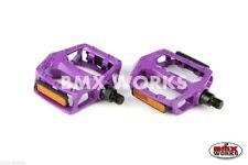 """BMX Works Pedals Platform 1/2"""" Purple Sold In Pairs"""