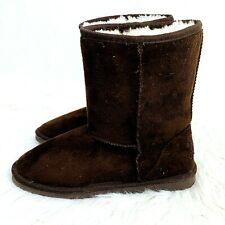 Dawgs Brown Boots Faux Fur Lined size 7 Barely Worn Soft Warm Winter