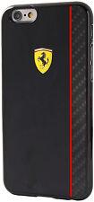 """ORIGINALE Ferrari Scuderia Piastra di Carbonio Custodia Rigida per iPhone 6 6S Plus 5,5 """"NERO"""
