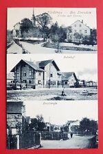 AK NIEDERAU bei Meissen um 1920 Bahnhof mit Dampflok Eisenbahn, Dorfstr. ( 31230