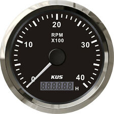 85mm Black KUS Tachometer 0-4000rpm for gasoline engine CMHB-BS-4KL (SV-KY07008)