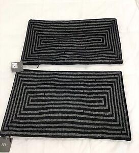 New set of 2 Restoration Hardware Velvet Elipse Pillow Covers $ 518 Black