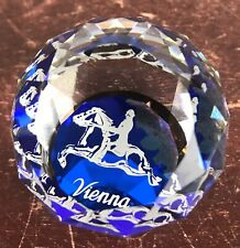 Vienna Crystal Paperweight Horse Riding