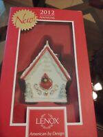2012 ANNUAL Bless Our Home Christmas Ornament LENOX CARDINAL Birdhouse RARE HTF