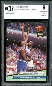 1992-93 Ultra #328 Shaquille O'neal Rookie Card BGS BCCG 9 Near Mint+