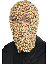 Maggot Face Mask Latex Head Disgusting Creepy Halloween Scary Gross Adult Mens