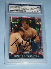 Junior Dos Santos Signed UFC 2011 Topps Finest X-Fractor Card PSA/DNA COA Auto'd