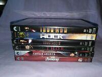 Marvel CMU Movies Phase 1 DVD Lot (Hulk Iron Man Thor Captain America Avengers)