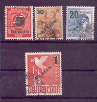 Berlin Briefmarken Aufdruck 1949 - MiNr. 64/67 gestempelt - Michel 40,00 € (314)