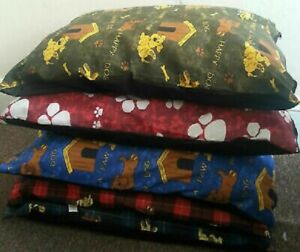 "Pack of 5 MEDIUM Size Dog Bed Filled Pillows Removable ZIP 29""x 39""Random Colors"