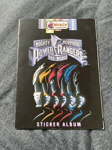 Mighty Morphin Power Rangers The Movie Merlin Sticker Album Not Complete