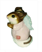 WEE FOREST FOLK Christmas ICE ANGLE Pink red polka dot wings Miniature Mouse