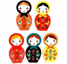 Patch Thermocollant en tissu Fille Poupée Robe Tablier Iron-on patch Paper Doll